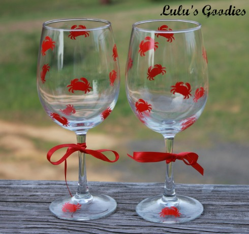Crab Wine Glasses
